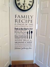 family recipe wall decal wall art decal sticker