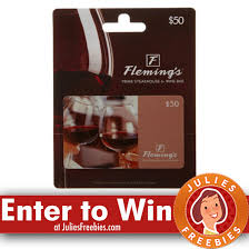 flemings gift card win a 100 00 fleming s gift card julie s freebies