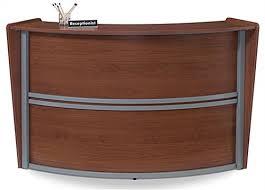 Wood Reception Desk Wood Reception Desk 19 75 D Interior Work Area