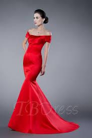mermaid trumpet off the shoulder zipper up formal evening dress