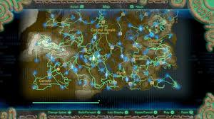 legend of zelda map with cheats zelda breath of the wild guide how to use the hero s path polygon