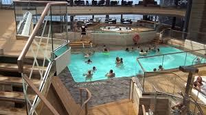 inside swimming pool msc meraviglia bamboo pool sliding roof inside swimming pool msc