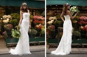 inspired wedding dress stephanie allin feather embellished skirt