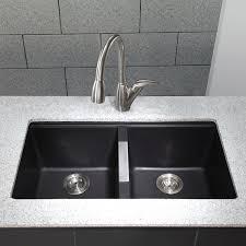 Kitchen Sink With Cabinet Ideas Impressive Elegant Black Granite Kitchen Sinks With Amusing