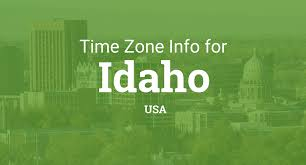 Idaho Time Zone Map Time Zones In Idaho United States