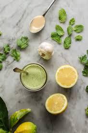 herb lemon herb tahini sauce on the range