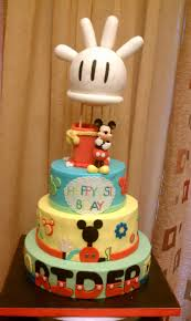 mickey mouse 1st birthday boy 3tier buttercream mickey mouse 1st bday themed cake wih matching
