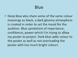 colour meaning colour for poster