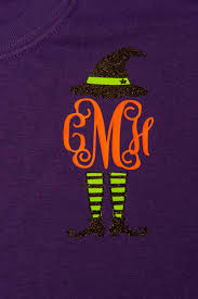 monogram sassy witch t shirt perfect for fall and halloween