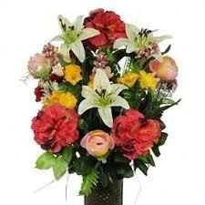 Artificial Flower Bouquets Silk Flowers In Vase Foter