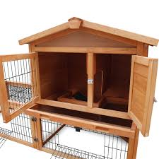 Large Rabbit Hutch Large Rabbit Hutch Chicken Coop Ferret Cage Hen Chook House 2