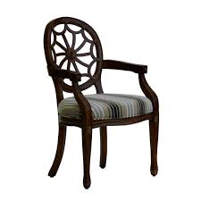 Wooden Accent Chair Furniture Brown Polished Wooden Accent Chairs With Arms And
