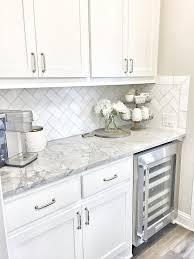 small tile backsplash in kitchen butlers pantry small butlers pantry with herringbone backsplash