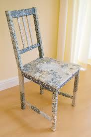 Chair Fabric Haversham Rail Back Chair Fabric Decoupage Furniture Upcycled