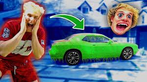 jake paul car super slime prank on logan paul s car by jake paul stunmore
