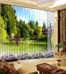 2017 high quality customize size modern home curtains green park