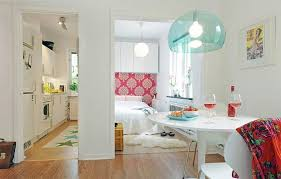 Beautiful And Practical Tiny Apartment Interior Design Freshomecom - Small apartment interior design pictures