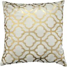 Gold Home Decor Accessories Amazon Com Gold Foil Geometric Print Decorative Throw Pillow