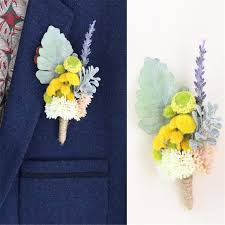 mens boutineer men s rustic boutonniere suits simulation rosy flower two buttons