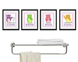 themed bathroom wall decor kids bathroom children s wall decor owls for