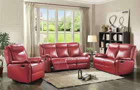 Red Leather Reclining Chair Latitude Run Leo Minor Double Leather Reclining Sofa U0026 Reviews