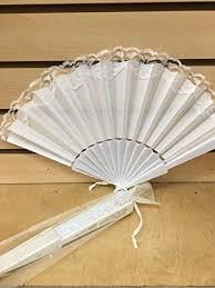 fans for wedding 12 sparkle ivory organza bag for fan wedding