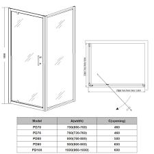 Shower Door Width Astounding Opening Shower Door Gallery Best Inspiration