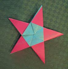 Origami Paper Works - cards and papercrafting five pointed origami