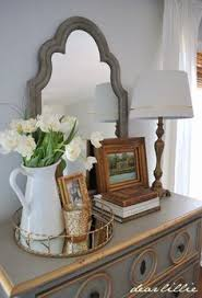Master Bedroom Dresser Decor Decorating With Trays Trays Decorating And Vignettes
