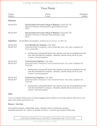 Resume Template For College Students College Graduate Resume