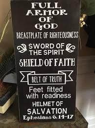 armor of god custom wood sign u2013 abreezycreation