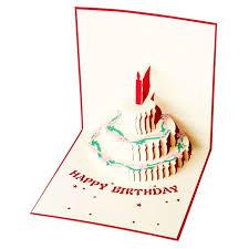 creative birthday cake shape 3d greeting cards fantastic paper