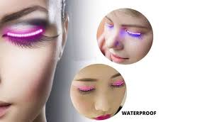 pair of luminous led eyelashes in choice of colour great for