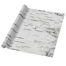 birch wrapping paper country rustic woodland birch tree bark wrapping paper zazzle