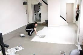 peinture sol cuisine j ai testé pour vous une alternative au béton ciré peu coûteuse