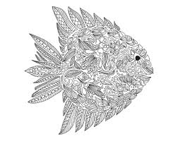 pictures fish coloring pages for adults 73 about remodel gallery