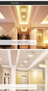 led crystal chandelier balcony lights aisle lights circular