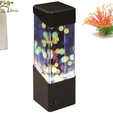 aquarium tank led mini led jellyfish lamp table lamp for home