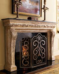 interior decorative fireplace screens designs stained glass fire