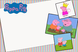 peppa pig free printable invitations party printables