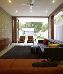 interior fancy minimalism shades of brown and black living room