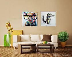 home decoration handmade 2018 modern home decor 100 handmade oil painting doctor pig cute