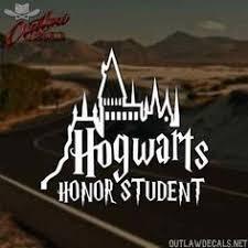 hogwarts alumni bumper sticker personalized instagram username decal 2 99 on ebay car decals