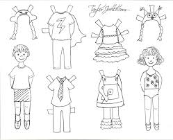 paper doll coloring pages u2013 coloring pages