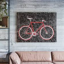 Cycling Home Decor Yosemite Home Decor 36 In X 48 In City Cycling Painted