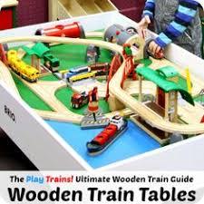 trains for train table wtrak wooden train tables at seattle s mini maker faire train