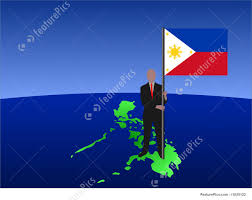 Phippines Flag Man With Filipino Flag Stock Illustration I1625122 At Featurepics