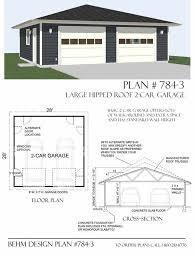 Garage Amazing Garage Plans Design Garage Plan With by 2 Car Attic Roof Garage With Shop Plans 864 5 By Behm Design