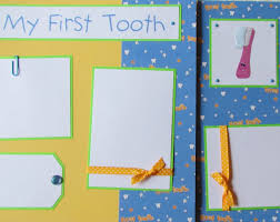 12x12 Scrapbook Premade 12x12 Scrapbook Pages My First Tooth Baby Boy