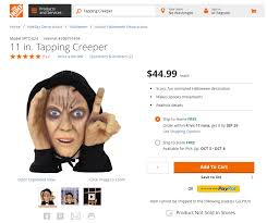 scary peeper creeper decoration pulled from home depot